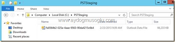 clip image039 thumb1 Exchange Server 2013 ile PST Hunting , PST Capture & Import
